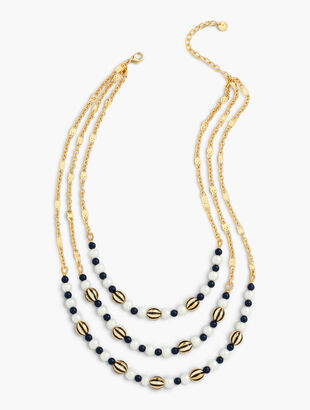 Stripes & Dots Layered Necklace