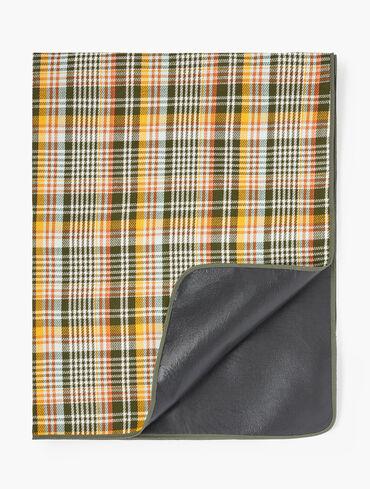 Printed Plaid Picnic Blanket