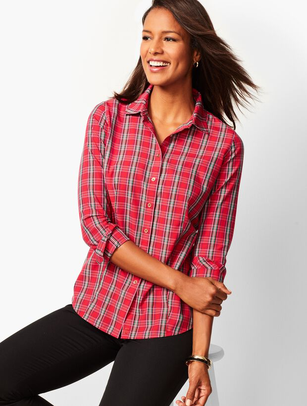The Perfect Shirt - Holiday Plaid