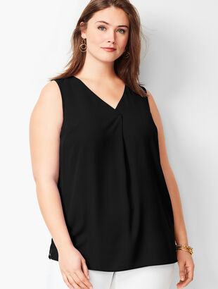 Plus Size Front Pleat Top