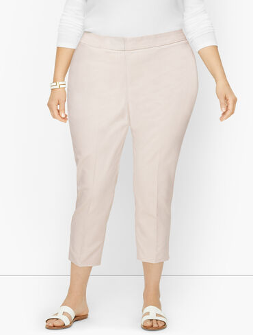 Plus Exclusive Talbots Chatham Crops - Corded Stripe