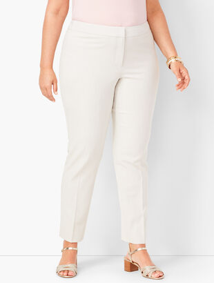 Corded Stripe Slim Ankle Pants
