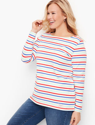 Authentic Talbots Tee - Bateau Stripe