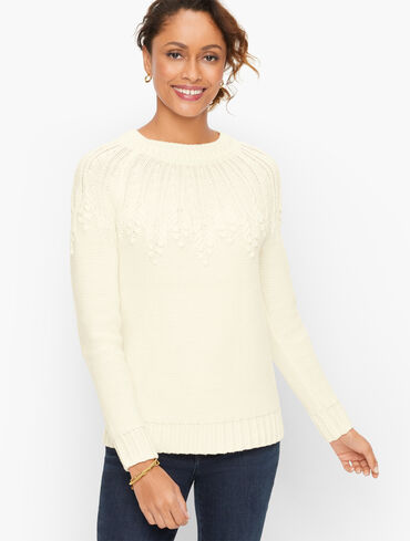 Yoke Stitch Sweater