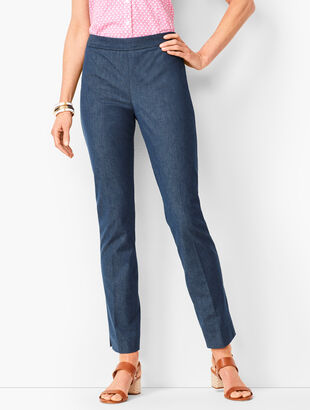 Talbots Chatham Ankle Pants - Polished Denim