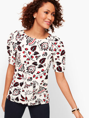 Crepe Top - Berry Paisley