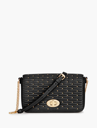 Quilted Studded Leather Crossbody Bag