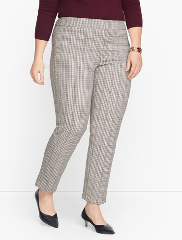 Talbots Chatham Fly Front Ankle Pants - Turning Plaid