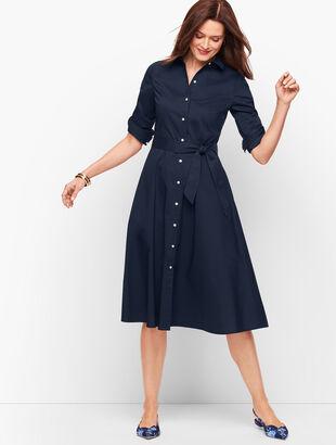 Classic Poplin Shirtdress - Solid