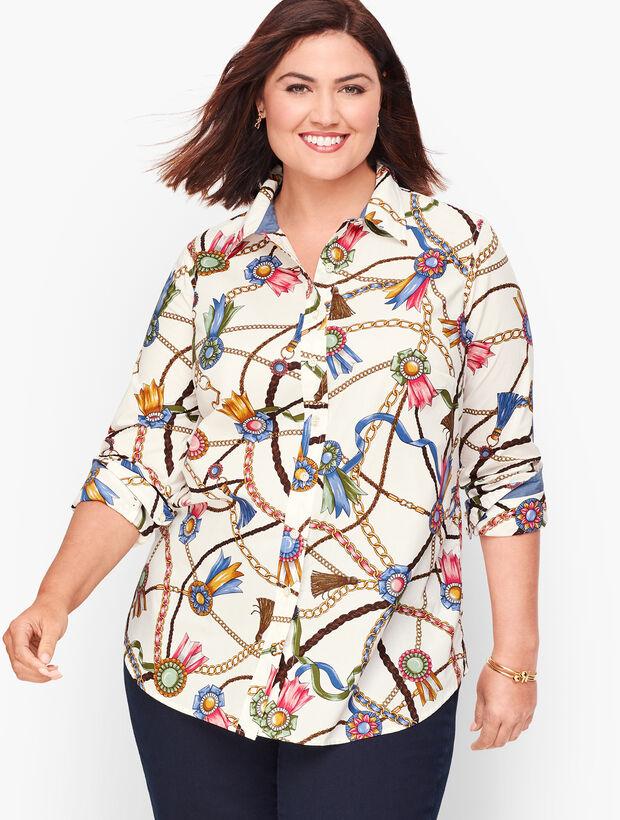 Classic Cotton Shirt - Links & Ribbons