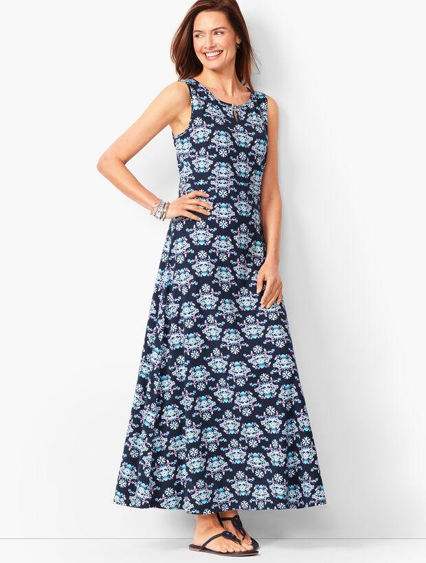 Knit Jersey Maxi Dress - Floral