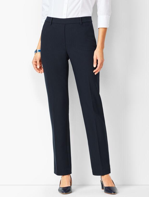 Bi-Stretch Pull-On Straight-Leg Pants