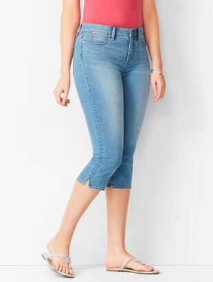 Denim Pedal Pushers - Curvy Fit - Barrow Wash