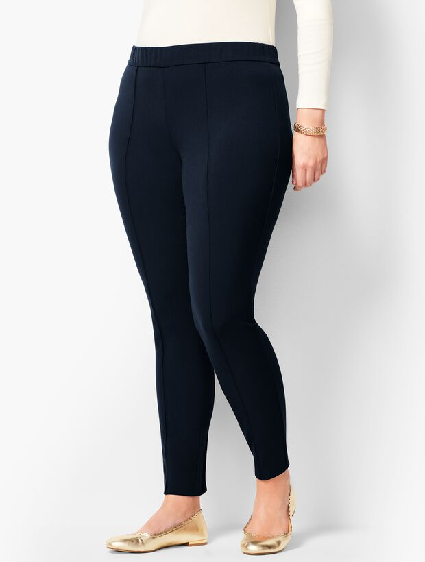 Plus Size High-Waist Bi-Stretch Skinny Ankle Pants
