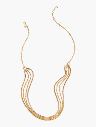 Gold Multi Layered Necklace