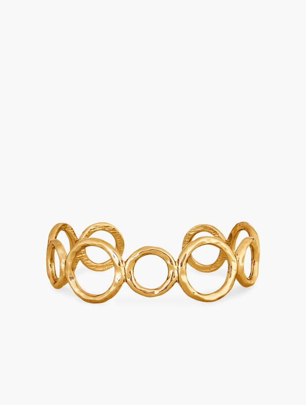 Hammered Rings Cuff