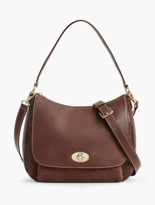 Soft Pebbled Leather Hobo Bag