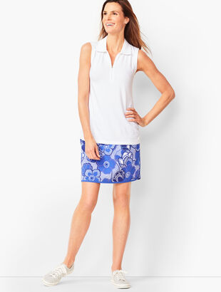 Lightweight Stretch Woven Skort - Bi-Color Floral
