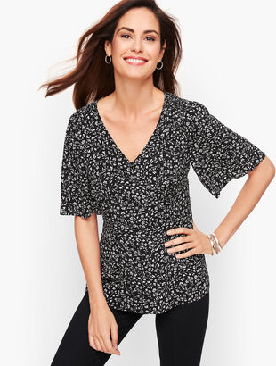 Flutter Sleeve Top - Floral