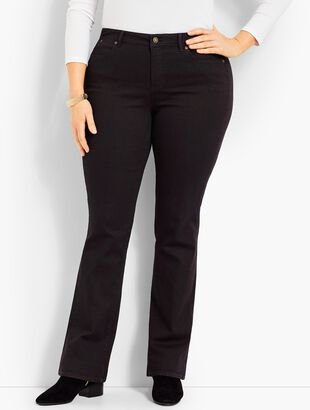 Comfort Stretch Denim Bootcut Full-Length Jeans - Black
