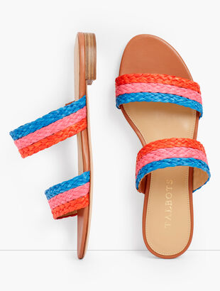 Keri Braided Raffia Slides