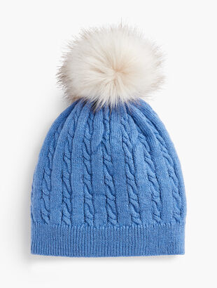 Cable Stitch Pompom Hat