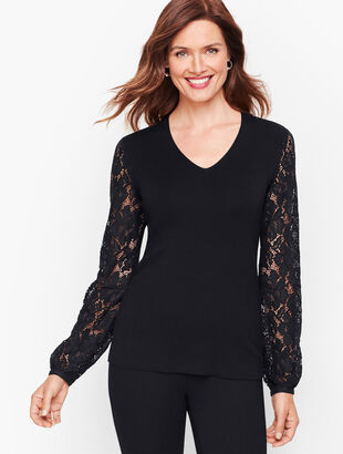 Lace Poet Sleeve Sweater