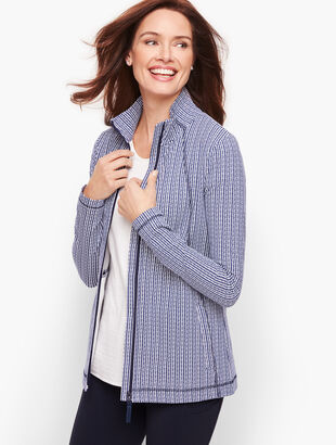 Everyday Yoga Jacket - Petal Stripe
