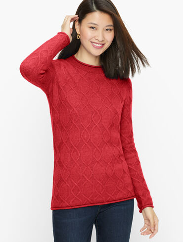 Cable Knit Crewneck Pullover