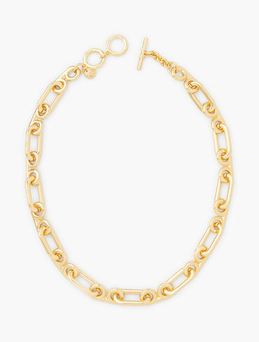 Scroll Link Chain Necklace