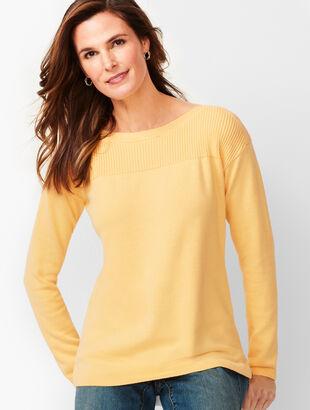 Ribbed-Yoke Sweater