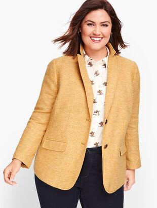 Shetland Wool Blazer - Mustard