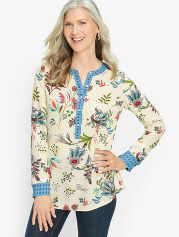 Band Collar Popover - Dancing Floral