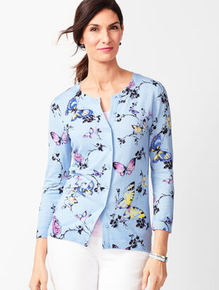 Charming Cardigan - Three-Quarter Sleeve - Butterfly