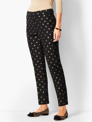 Foil-Dot Talbots Chatham Ankle Pants