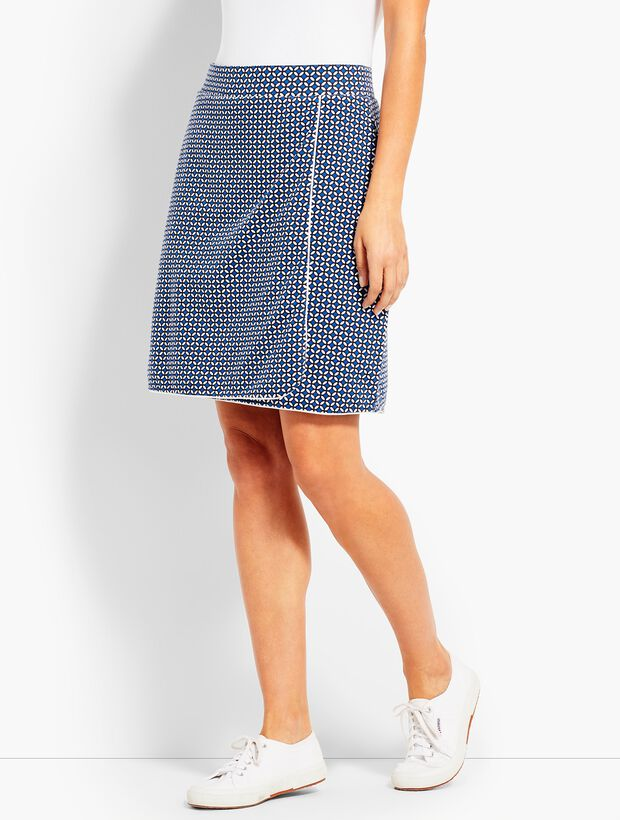 Everyday Faux-Wrap Skort-Leaf-Dot