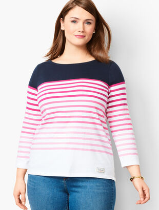 Authentic Talbots Tee - Gradient Stripe