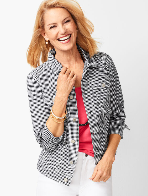 24f9548c127cb Images. Classic Jean Jacket - Gingham