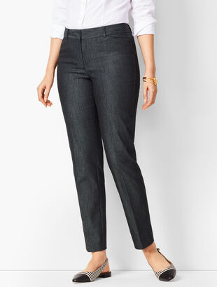Talbots Hampshire Ankle Pants - Black Denim/Curvy Fit