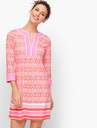 Cabana Life® Embroidered Cover Up - Coral Lattice