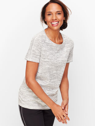 Stripe Ruched Tee