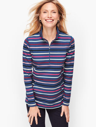 Half Zip Top - Colorful Stripe