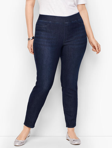 Sculpt Pull-On Jeggings - Empire Wash