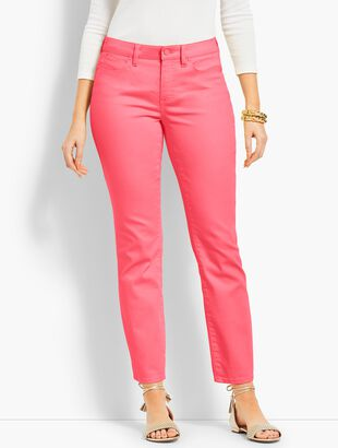 Colored Denim Slim Ankle Jean - Curvy Fit
