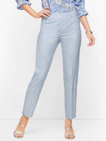 Lightweight Tweed Slim Ankle Pants