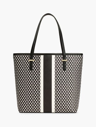 Hearts & Stripe Novelty Tote Bag