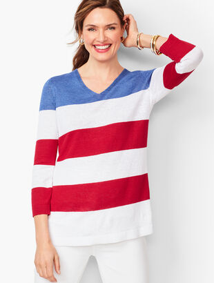 Flag Stripe Linen Sweater