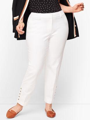 Plus Size Talbots Hampshire Ankle Pants - Curvy Fit - Button Hem