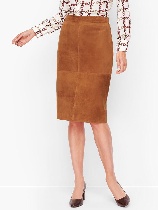 Luxe Suede Pencil Skirt