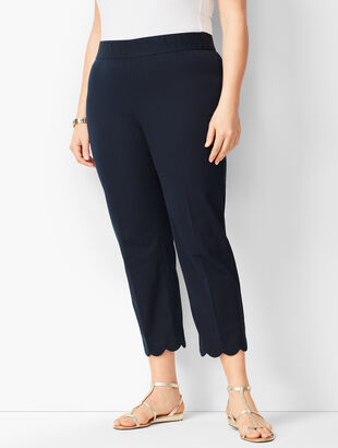 Plus Size Bi-Stretch Pull-On Crops